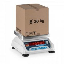 Waga sklepowa - 30 kg / 10 g - legalizacja - 2 platformy TEM 10200007 TEKO+LED30T-PLS-B1