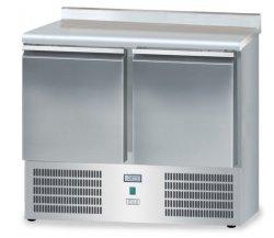 Stół mroźniczy z drzwiami o pojemności 2x65l 950x600x850 DM-S-95044.0.0 600 DORA METAL DM-S-95044.0.0 DM-S-95044.0.0 600