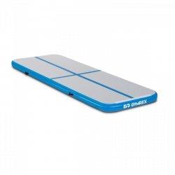 Nadmuchiwana mata gimnastyczna - 300 x 100 x 10 cm - niebiesko-szara GYMREX 10230104 GR-ATM1