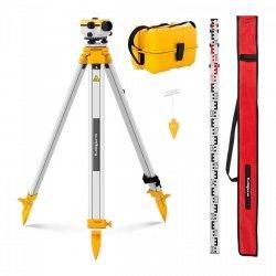 Niwelator optyczny + statyw - powiększenie 32 x - śr. 40 mm STEINBERG 10030468 SBS-LIS-32/40