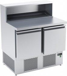 Stół chłodniczy do przygotowywania pizzy o pojemności 2x85l 950x700x850/1120 DM-S-94042 DORA METAL DM-S-94042 DM-S-94042