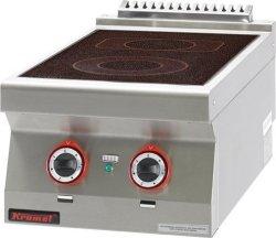 Kuchnia elektryczna ceramiczna /2 pola/  400x700x280 mm KROMET 700.KE-2C* 700.KE-2C*