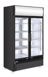 Witryna chłodnicza z podświetlanym panelem 2-drzwiowa 750 l HENDI 233795 233795