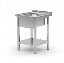 Stół ze zlewem i półką 600 x 700 x 850 mm POLGAST 212067 212067