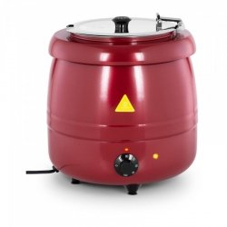 Kociołek do zupy - 10 l - stal - czerwony ROYAL CATERING 10012066 RCST-9404