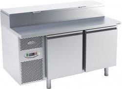 Stół chłodniczy do przygotowywania pizzy o pojemności 2x150l 1475x800x850/1030 DM-94048