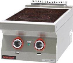 Kuchnia elektryczna ceramiczna /2 pola/  400x700x280 mm KROMET 700.KE-2C 700.KE-2C