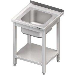 Stół ze zlewem 1-kom.,z półką 600x600x850 mm spawany STALGAST 614066 614066