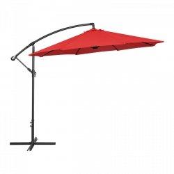 Parasol ogrodowy wiszący - Ø300 cm - czerwony UNIPRODO 10250081 UNI_UMBRELLA_R300RE