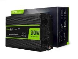 Samochodowa Przetwornica Napięcia Green Cell ® 12V do 230V, 2000W/4000W Czysta sinusoida GREEN CELL INV11