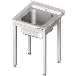 Stół ze zlewem 1-kom.,bez półki 600x600x850 mm spawany STALGAST 980626060S 980626060S