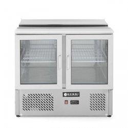 Stół chłodniczy 2-drzwiowy przeszklony z pokrywą uchylną HENDI 232743 232743