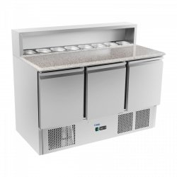 Stół chłodniczy do pizzy - 137 x 70 cm - granit ROYAL CATERING 10010453 RCKT-137/70-G