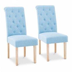 Krzesło tapicerowane - niebieskie - 2 szt. Fromm & Starck 10260168 STAR_CON_60