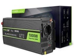 Samochodowa Przetwornica Napięcia Green Cell ® 12V do 220V, 1000W/2000W GREEN CELL INV08