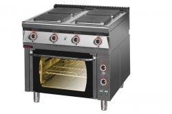Kuchnia elektryczna z piekarnikiem elektrycznym z termoobiegiem 900x900x900 mm KROMET 900.KE-4/PE-1T 900.KE-4/PE-1T