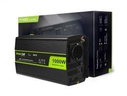 Przetwornica Green Cell® 24V na 230V Czysta sinusoida 1000W GREEN CELL INV18