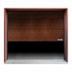 Brama garażowa - segmentowa - 2375 x 2125 mm - czarny orzech  MSW 10060209 GD2375 black walnut