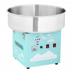 Maszyna do waty cukrowej - 52 cm - turkusowa ROYAL CATERING 10011084 RCZK-1200-BG