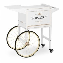 Wózek do popcornu - 51 x 37 cm - biało-złoty Royal Catering 10011104 RCPT-WGWG-1
