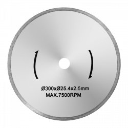 Tarcza do przecinarki do glazury - 300 mm - 25,4 mm MSW 10060811 MSW-TB-300/25