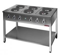 Kuchnia elektryczna na podstawie otwartej 6-płytowa  1200x700x850 mm KROMET 000.KE-6M 000.KE-6M