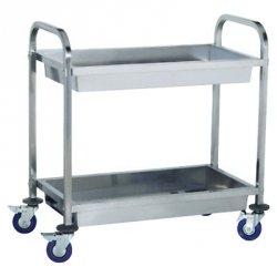Wózek kelnerski - półki głębokie TRL - 2 KG