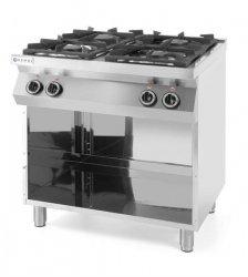 Kuchnia gazowa 4-palnikowa Kitchen Line na podstawie otwartej  HENDI 227589 227589
