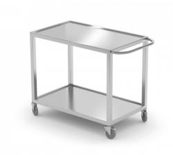 Wózek kelnerski dwupółkowy 800 x 500 x 850 mm