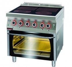 Kuchnia elektryczna z piekarnikiem elektrycznym  800x700x900 mm KROMET 700.KE-4C/PE-1* 700.KE-4C/PE-1*