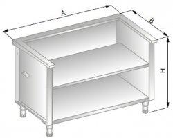 Stanowisko szafkowe pod urządzenia zewnętrzne 1350x800x900 ERIK DM-94515-E