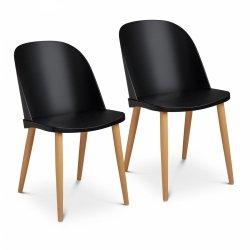 Krzesło - czarne - do 150 kg - 2 szt. FROMM & STARCK 10260137 STAR_SEAT_11