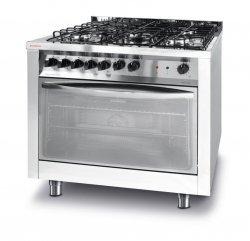Kuchnia gazowa 5 palnikowa z konwekcyjnym piekarnikiem elektrycznym i grillem REVOLUTION 226254 226254