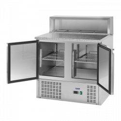 Stół chłodniczy - 90 x 70 cm - granitowy blat ROYAL CATERING 10010923 RCKT-90/70-6
