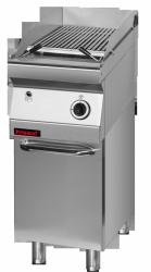 Lawa grill 400 mm 7kW na podstawie szafkowej zamkniętej  KROMET 700.OGL-400.S.D LINIA 700
