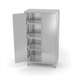 Szafa magazynowa z drzwiami na zawiasach 700 x 700 x 1800 mm POLGAST 304077 304077