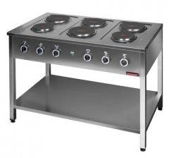 Kuchnia elektryczna na podstawie otwartej 6-płytowa  1200x700x850 mm KROMET MAR.000.KE-6M* MAR.000.KE-6M*