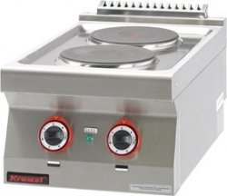 Kuchnia elektryczna /2 płyty/  400x700x280 mm KROMET MAR.700.KE-2* MAR.700.KE-2*