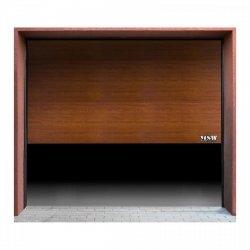Brama garażowa - segmentowa - 2500 x 2125 mm - złoty dąb MSW 10060213 GD2500 golden oak