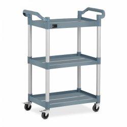 Wózek kelnerski - 3 półki - 90 kg - szary ROYAL CATERING 10011717 RC-PSTG3800