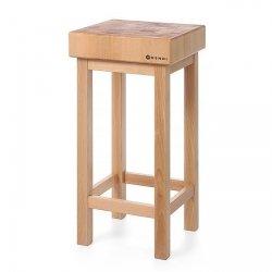 Kloc masarski drewniany na podstawie drewnianej HENDI 505625 505625
