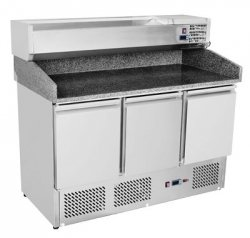 Stół do pizzy 3-drzwiowy z chłodz. witrynką SP - 903 REDFOX 00007345 SP - 903