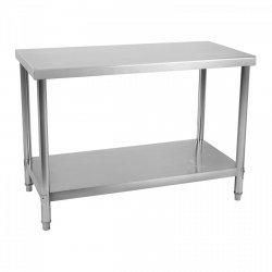 Stół roboczy ze stali nierdzewnej - 120 x 60 cm  ROYAL CATERING 10011093 RCAT-120/60-NW
