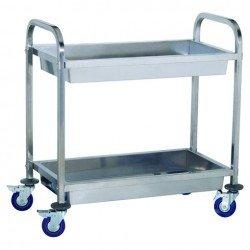 Wózek kelnerski 2-półkowy (skręcany) - głęboki INVEST HORECA WT-A00902 WT-A00902