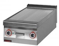 Płyta beztłuszczowego smażenia elektryczna ryflowana chromowana  450x900x280 mm KROMET 900.PBE-450R-C 900.PBE-450R-C