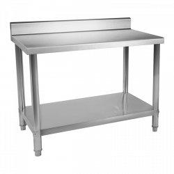 Stół roboczy ze stali nierdzewnej - rant - 120 x 70 cm