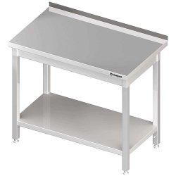 Stół przyścienny z półką 1800x600x850 mm skręcany STALGAST 611386 611386