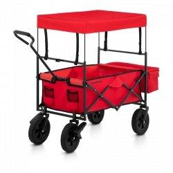 Wózek ogrodowy składany - 100 kg - czerwony - hamulce UNIPRODO 10250189 UNI_CART_03