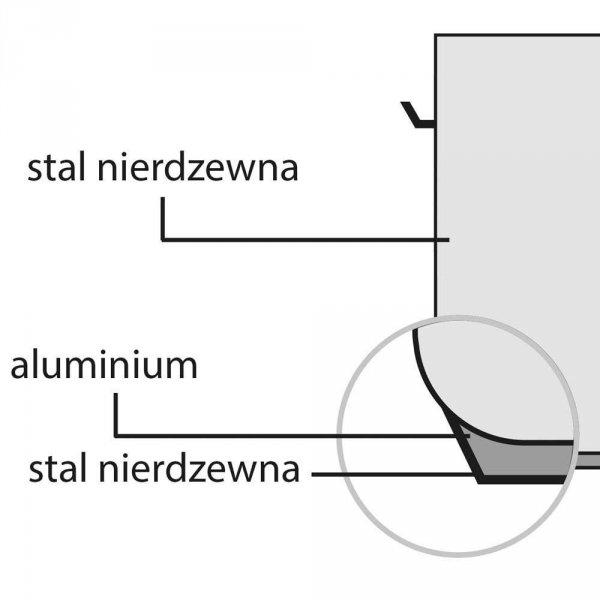 Garnek do duszenia d 360 mm 11,2 l z pokrywką