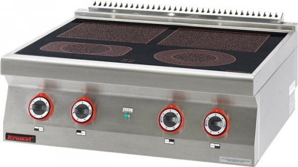 Kuchnia elektryczna ceramiczna /4 pola/  800x700x280 mm KROMET 700.KE-4C 700.KE-4C